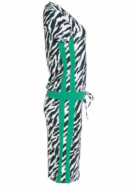 Gemma Ricceri Jurk Gwen zebra groen