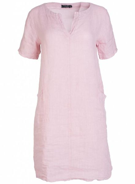 Rebelz Collection Jurk Fenna linnen roze