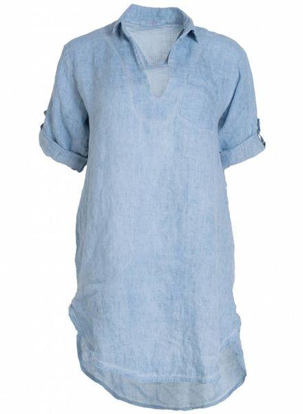 Gemma Ricceri Tuniek linnen Becky lichtblauw
