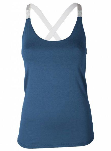 Gemma Ricceri Top Glitterband Jeans blauw