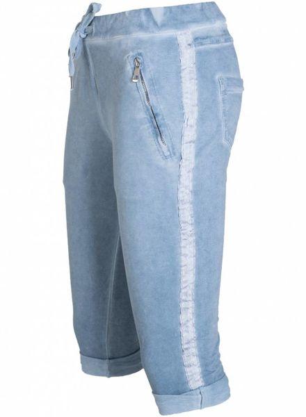 Gemma Ricceri Capri Joggingstof jeansblauw