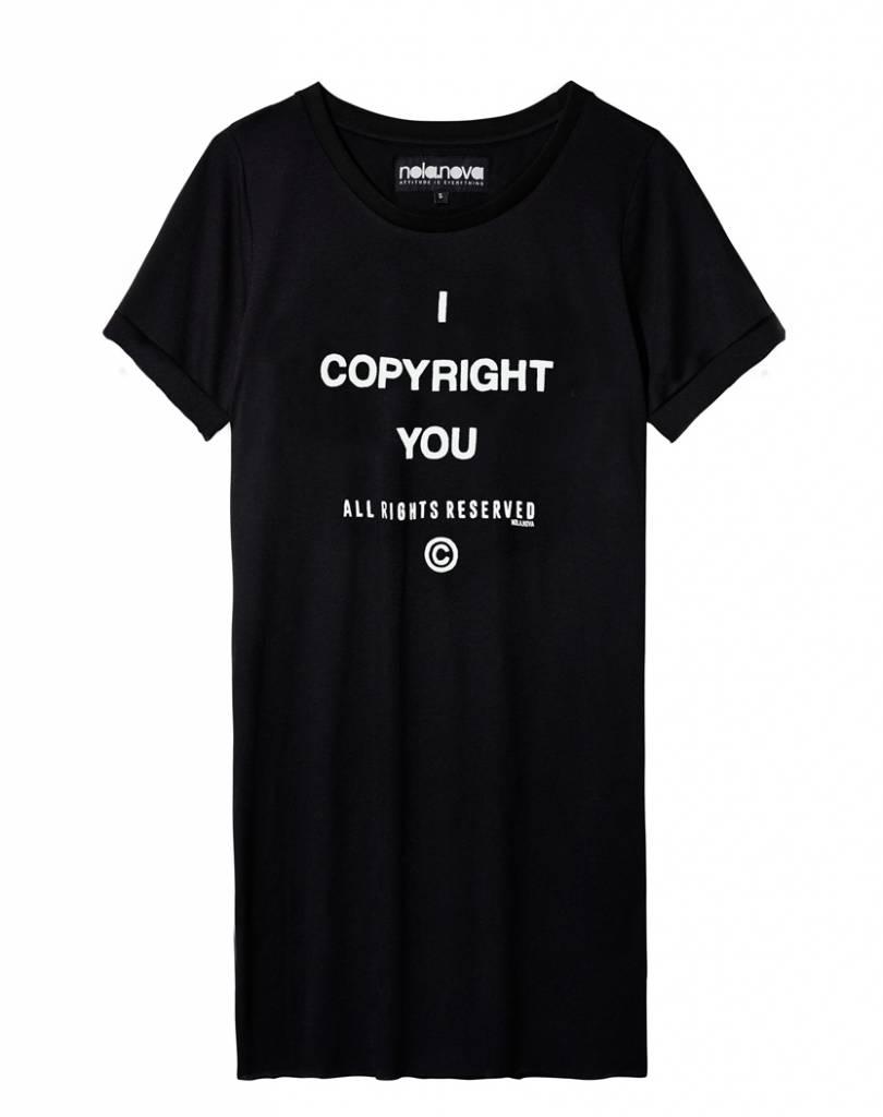 T-shirt jurk Copyright