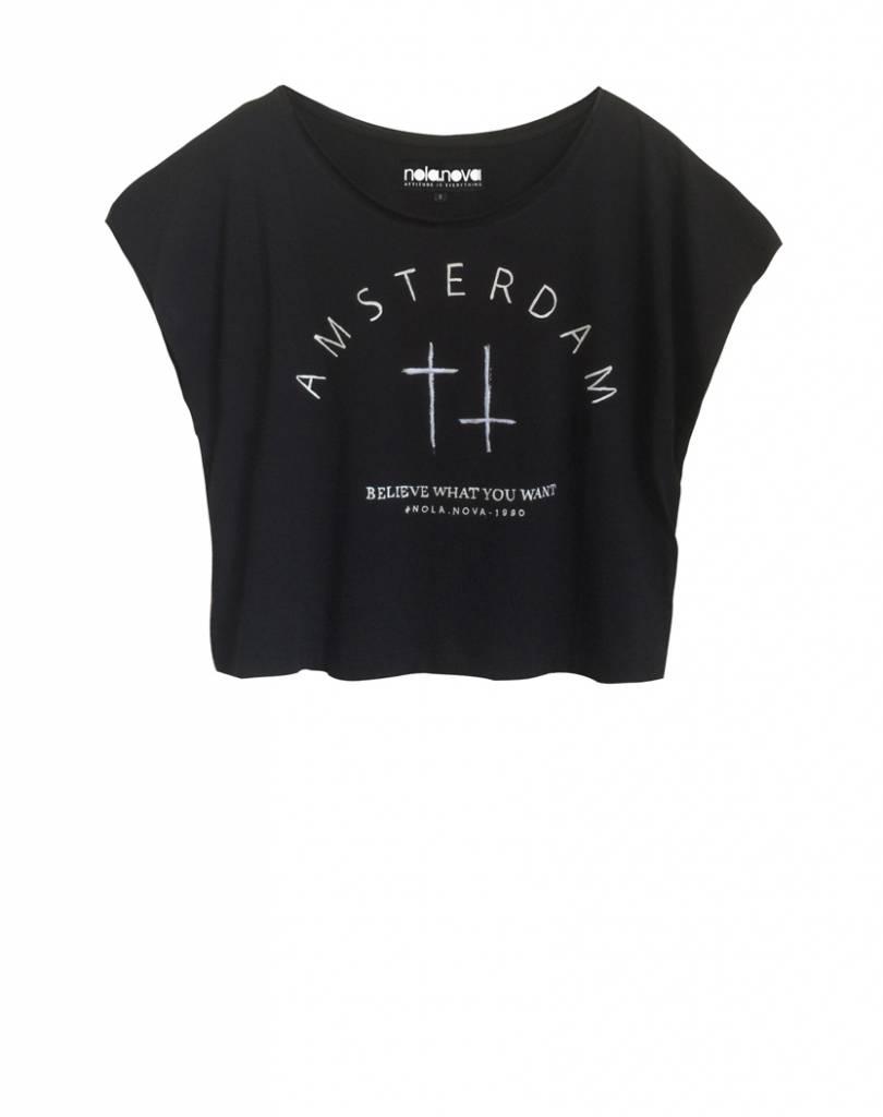 T-shirt Amsterdam Zwart