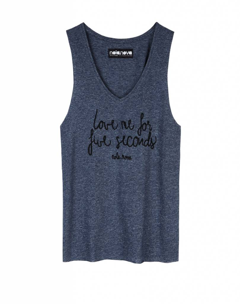 Tanktop For Five Seconds Blauw
