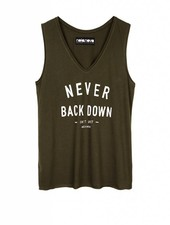 Tanktop Never Back Down
