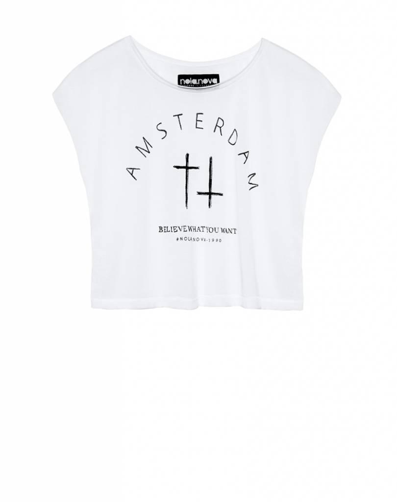 T-shirt Amsterdam Wit