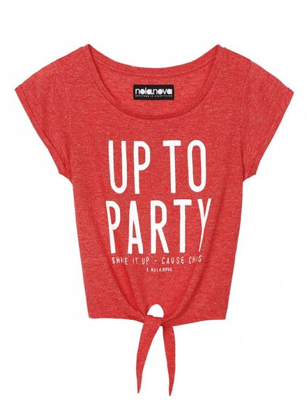 Knot T-shirt Up To Party