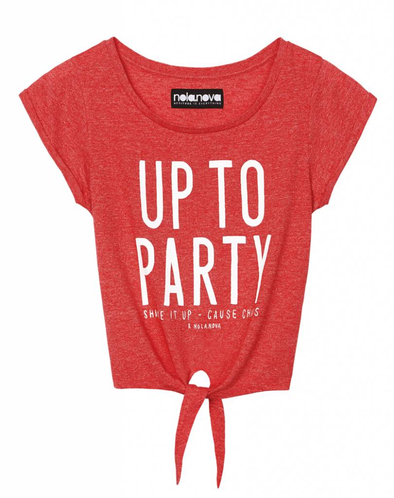 Cropped T-shirt Up To Party
