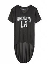 T-shirt dress mesh Wake Me Up in LA