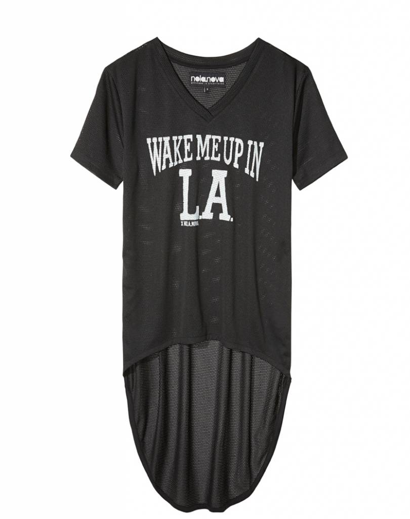 T-shirt Dress Mesh Wake Me Up in LA