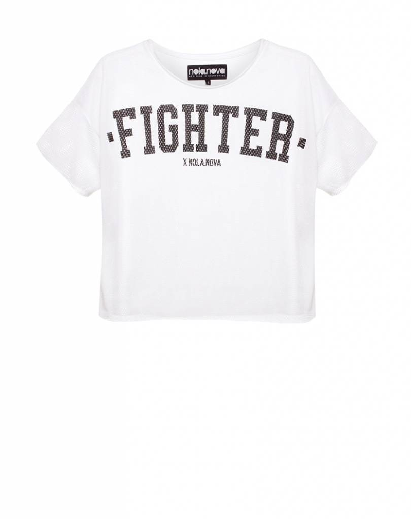 Cropped Top Mesh Fighter