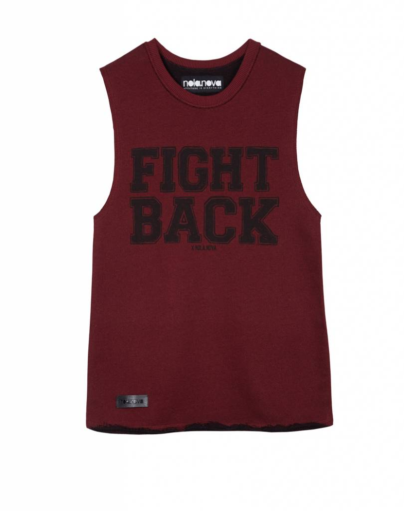 Tanktop Fight Back Rood