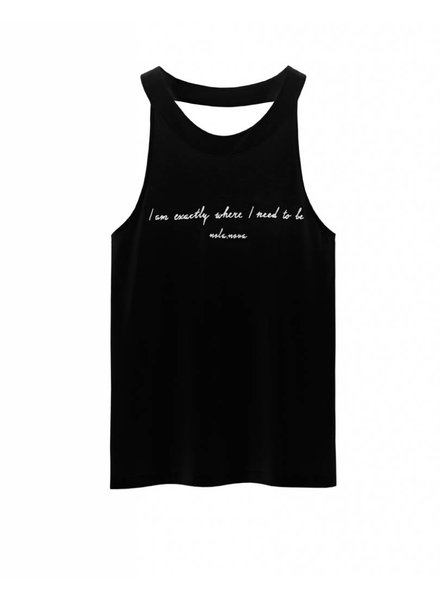Tanktop Need to Be Zwart