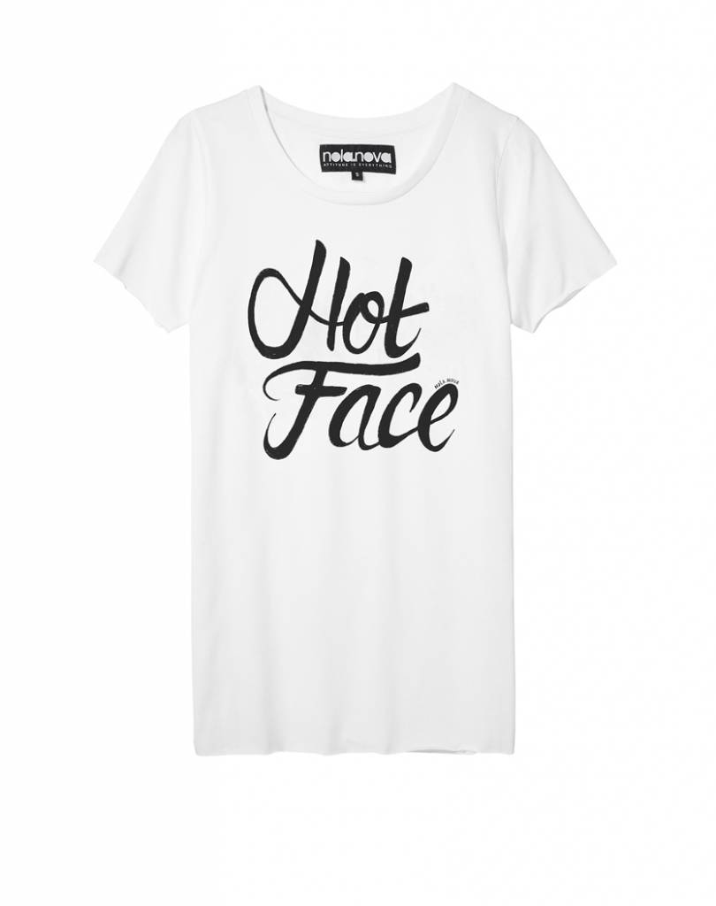 T-shirt Hot Face White
