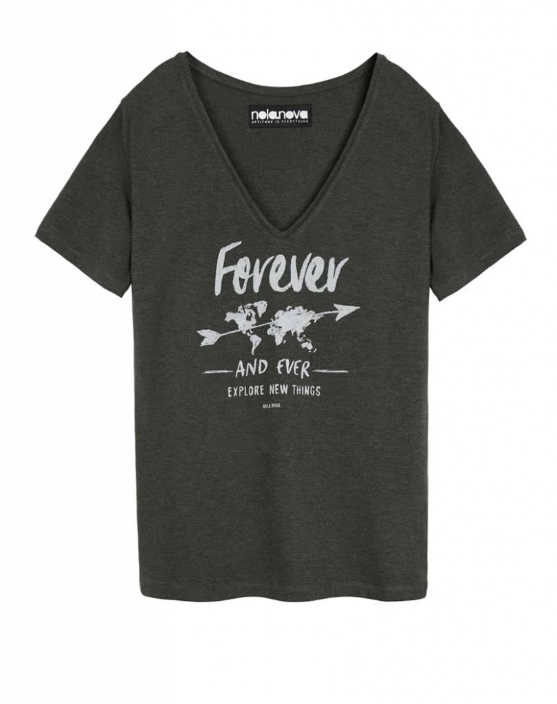 V-hals T-shirt Forever