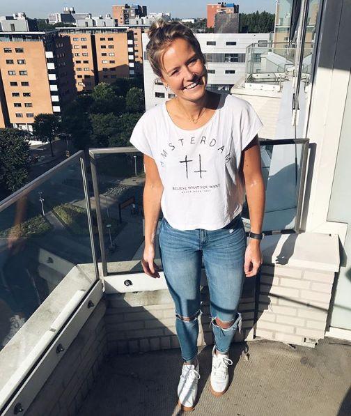 T-shirt Amsterdam White