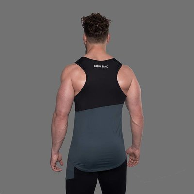 OPTIO SANO TANK TOP - HASTATUS NERO RESINA