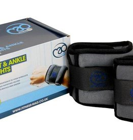 Fitness Mad Fitness Mad Wrist and Ankle Weights 2 x 1Kg