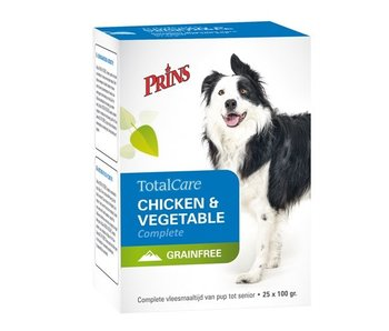 6x prins totalcare grainfree kip/groenten