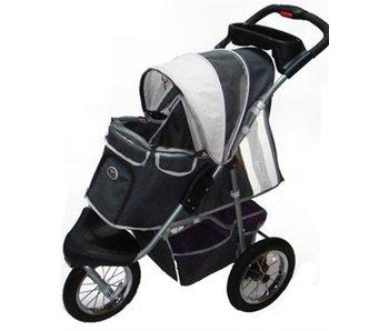 Innopet buggy comfort donkergrijs/ lichtgrijs