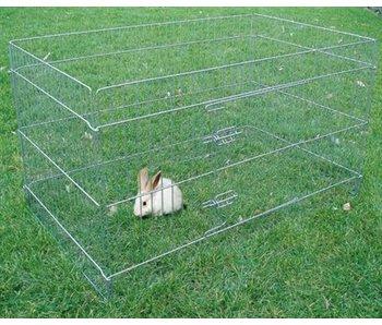 Karlie konijnenbuitenren rechthoekig
