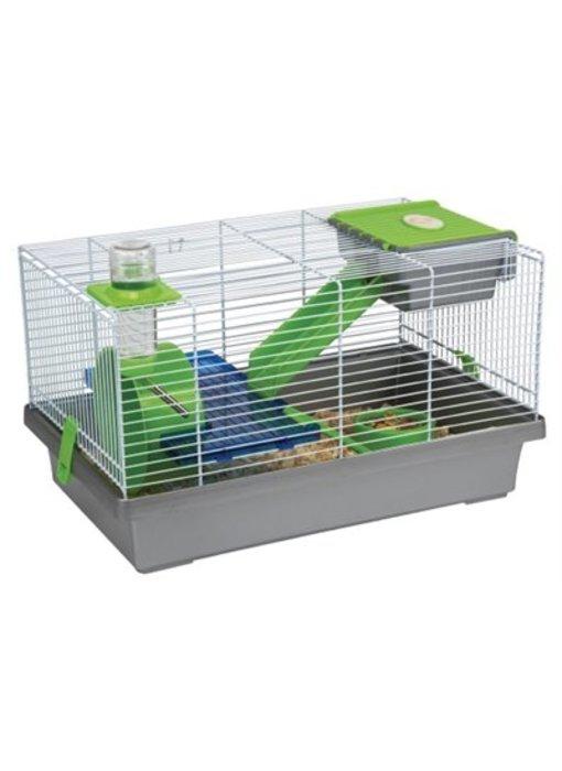 Karlie hamsterkooi nicky grijs / groen / blauw