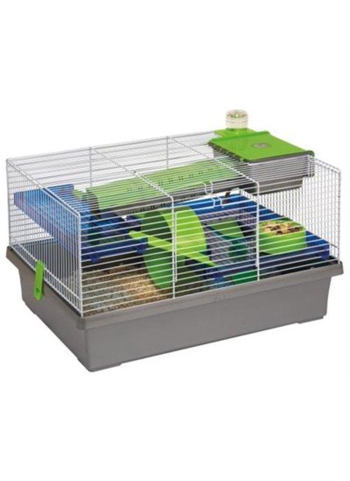 Karlie hamsterkooi jeffrey grijs / groen / blauw