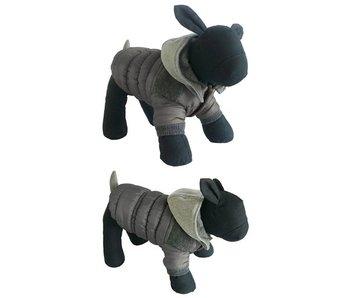 Hondenjas patcher met capuchon grijs