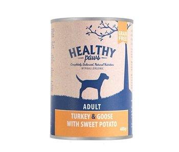 6x healthy paws blik britse kalkoen / gans / zoete aardappel
