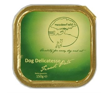 20x meadowfield dog delicatesse finest pate lam & gevogelte