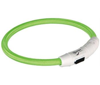 Trixie halsband flash light lichtgevend usb oplaadbaar groen