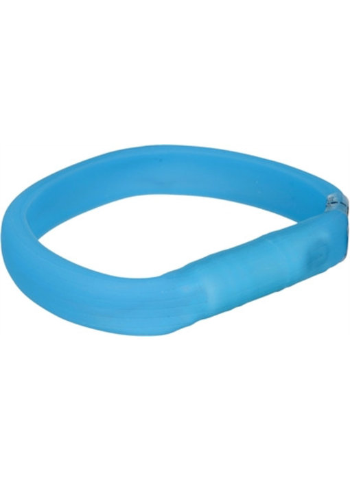 Trixie halsband usb flash light lichtgevend oplaadbaar blauw