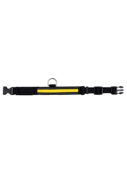 Trixie halsband flash lichtgevend zwart / geel