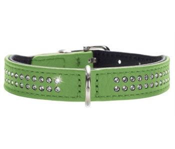 Hunter halsband diamond petit nappaleer groen/zwart
