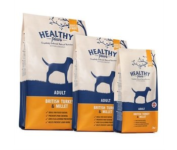 Healthy paws adult britse kalkoen / gierst