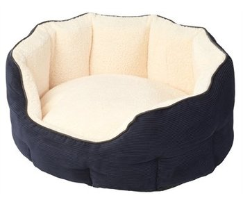 House of paws hondenmand ovaal memory foam blauw