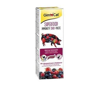 Gimcat superfood immunity duo-pasta lever / bosvruchten