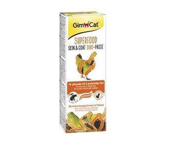 Gimcat superfood skin & coat duo-pasta kip / papaja