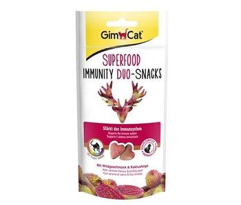 Gimcat superfood immunity duo-snacks wild / cactusvijg