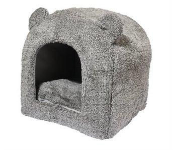 40 winks teddybeer kattenmand iglo grijs