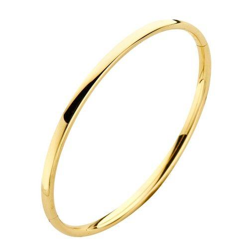 Fjory Fjory 14 kt. geelgouden armband met zilveren kern 3 mm. ovaal