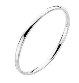 Fjory Fjory witgouden armband met zilveren kern ovaal