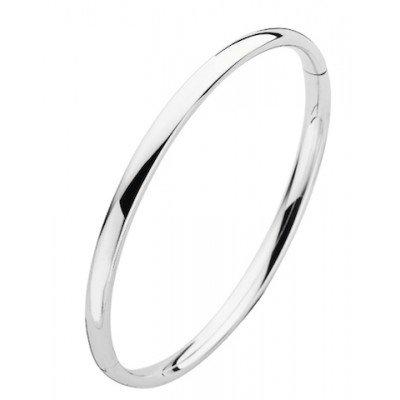 Fjory Fjory 14 kt. witgouden armband met zilveren kern 3 mm. ovaal