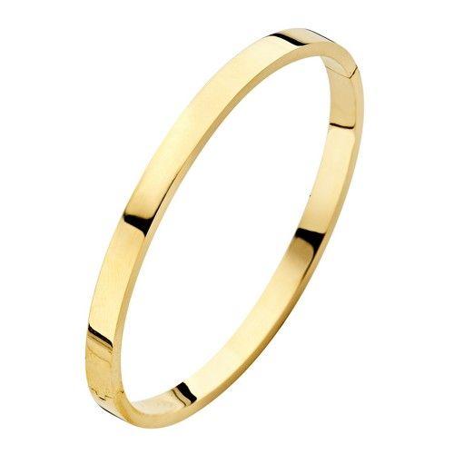 Fjory Fjory 14 kt. gouden armband met zilveren kern 5 mm. vierkant