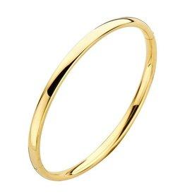 Fjory Fjory gouden armband met zilveren kern ovaal