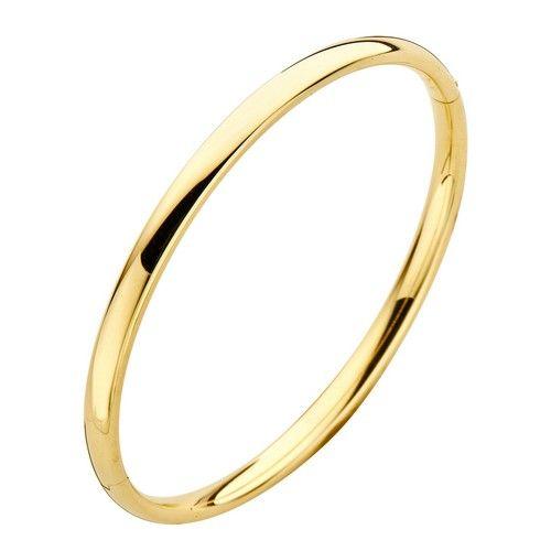 Fjory Fjory 14 kt. geelgouden armband met zilveren kern 4 mm. ovaal
