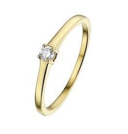 Private Label CvdK Solitair 14 kt. geelgoud met diamant