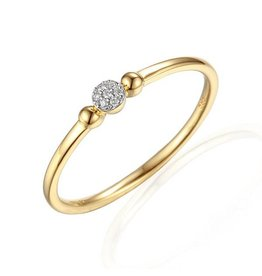 Private Label CvdK Rozet ring 14 kt. geelgoud met diamant