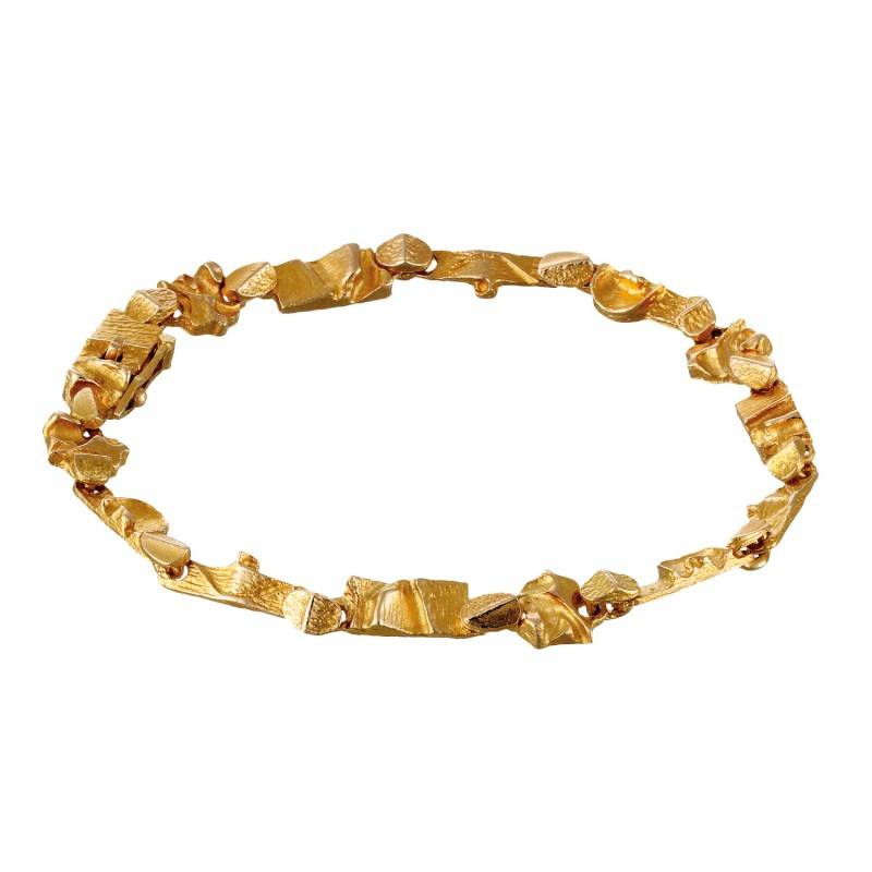 Lapponia Lapponia Tenochtitlan 14 kt. geelgouden armband 18,5 cm.