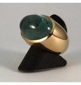 18 kt. gouden ring groene beryl